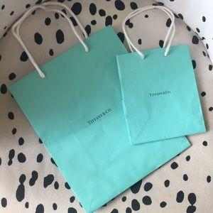 Small & medium Tiffany & co. Empty shopping bags